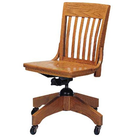 Marvelous Americana Solid Oak Swivel Chair W O Arms Lamtechconsult Wood Chair Design Ideas Lamtechconsultcom