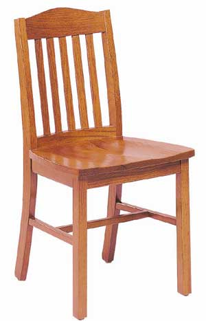 Community Addison Solid Oak Armless Chair 353a Wooden Chairs