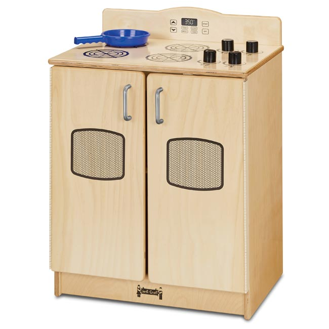 Natural Birch Play Kitchen Stove