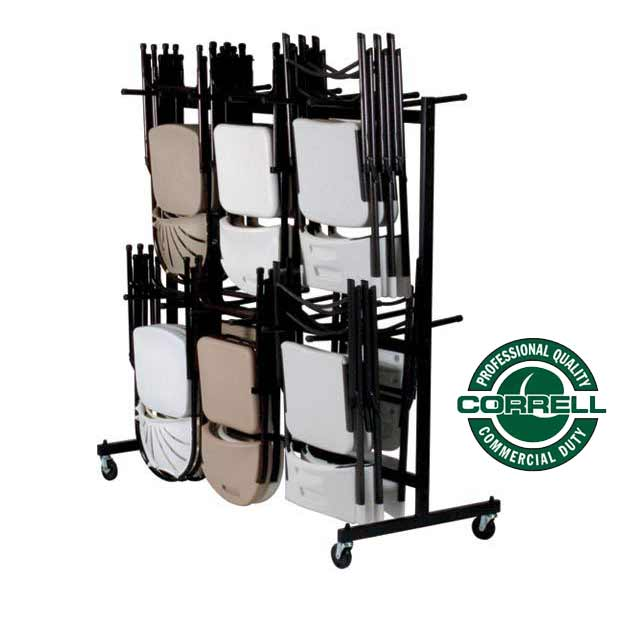 All Hanging Folding Chair Caddies And Coat Rack By Correll Options Furniture Carts And Dollies Worthington Direct