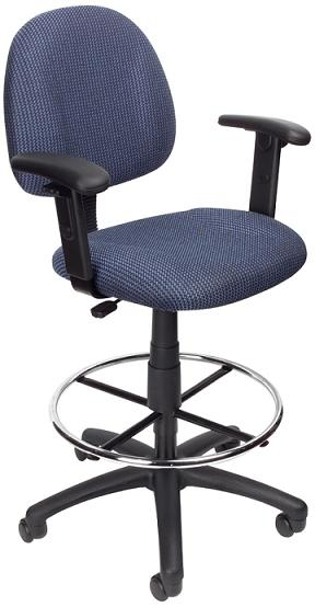 Boss Contour Drafting Stool With Adjustable Arms B1616