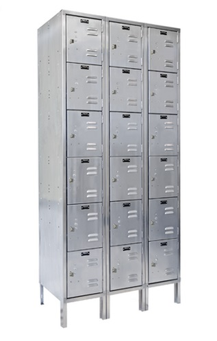 uss3288-6-stainless-steel-six-tier-3-wide-locker-unassembled