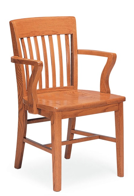 Community Americana Slat Back Wooden Chair W Arms 301a Wooden Chairs Worthington Direct