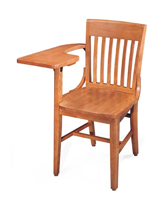 309a-solid-oak-tablet-arm-chair
