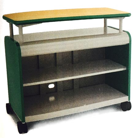 30213-cascade-series-twoshelf-mobile-presentation-cart-wout-doors-4258-w-x-19-d