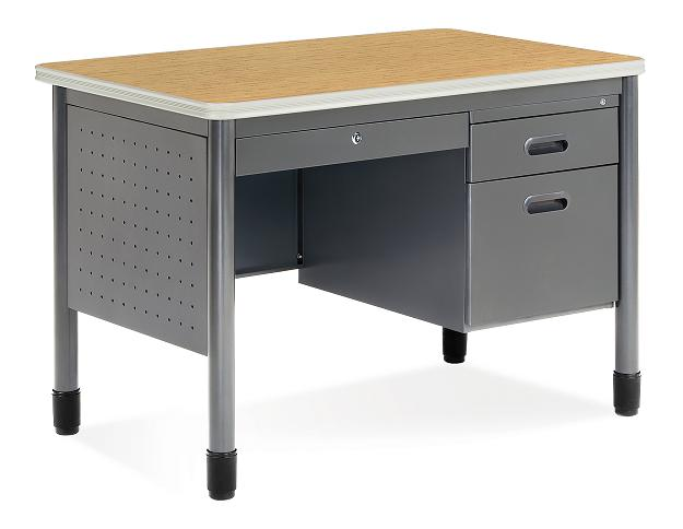 66242-single-pedestal-42w-x-25d-teacher-desk-by-ofm