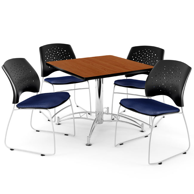 Ofm Breakroom Table 36 Square Or Round W Four Star Series
