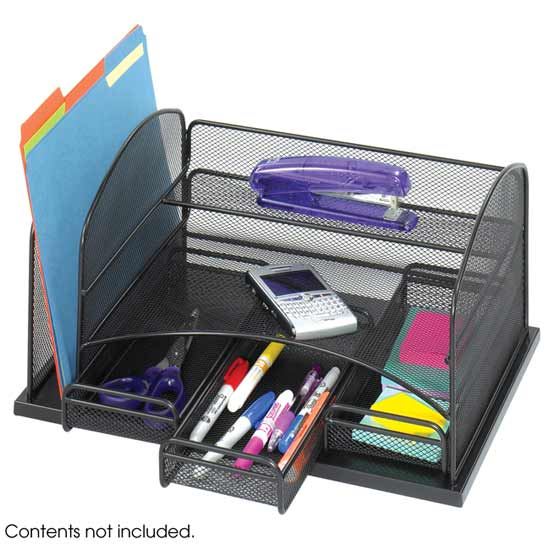 Safco 3252bl onyx 3 drawer desk organizer - Drawer desk organizer ...