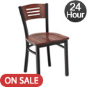 Slat Back Cafe Chair with Wood Seat and Back by KFI