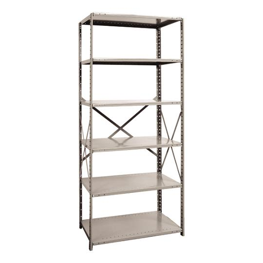 551112-heavyduty-open-shelving-starter-unit-w-6-shelves-36-w-x-12-d