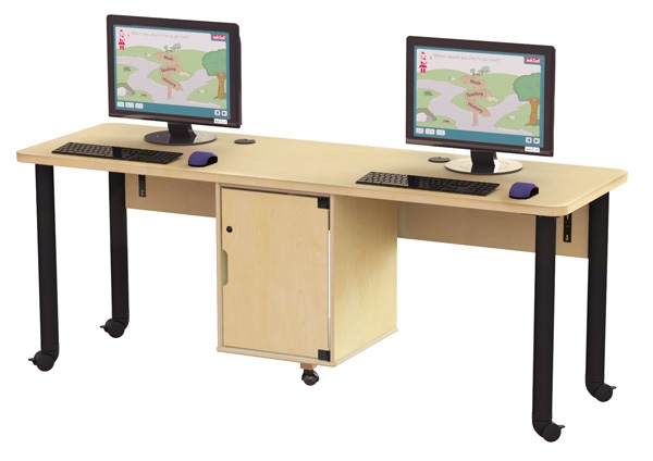 Double Computer Lab Table