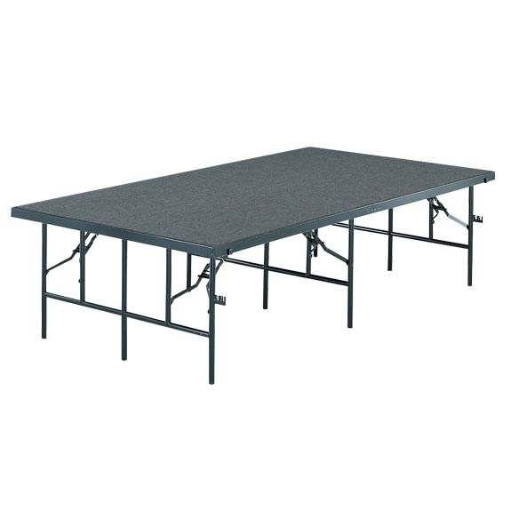 4816c-4x8x16h-stageriser-pewter-gray-carpet-wblack-metal