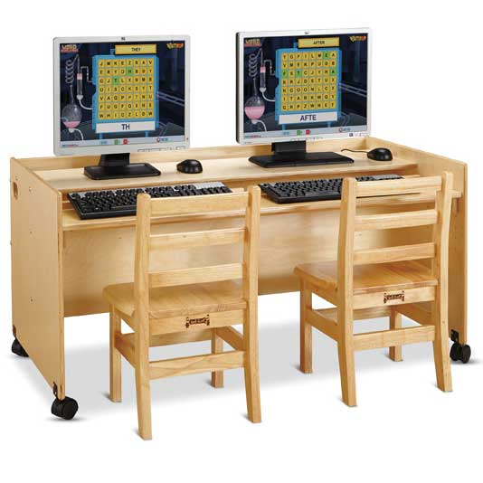 jonti craft enterprise double computer desk 3488jc early rh worthingtondirect com double computer desks for home double sided computer desk