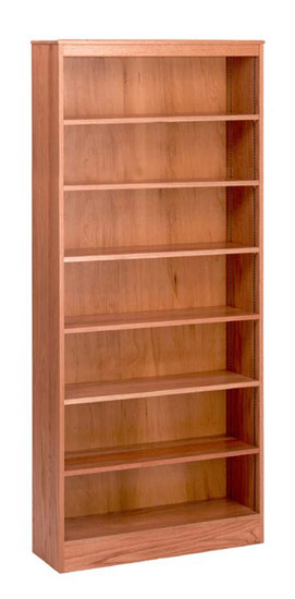 3684-84-x-36-oak-bookcase-wadjustable-shelves