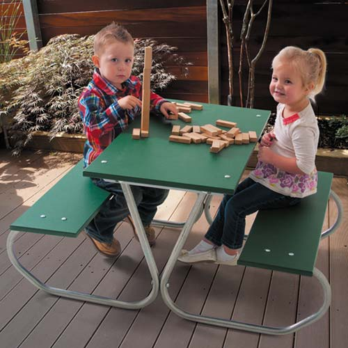 357-46-preschool-picnic-table-green-planks-zinc-frame