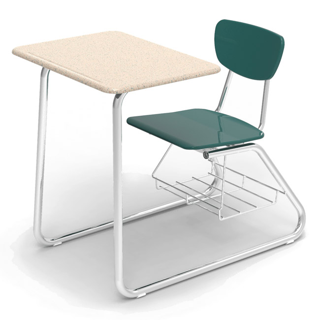 Sensational Solid Plastic Sled Base Combo Desk Caraccident5 Cool Chair Designs And Ideas Caraccident5Info