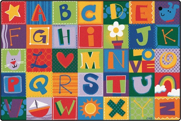 Carpets For Kids Alphabet Blocks Kidsoft Rug 4 X 6 Rectangle