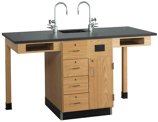 c2516k-single-face-service-island-two-student-with-sink-doordrawer