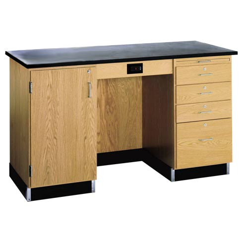 1214kfl-instructors-desk-w-cabinet-on-left-side-wo-sink-phenolic-resin-top