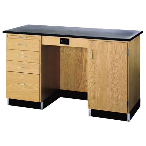 1214kfr-instructors-desk-w-cabinet-on-right-side-wo-sink-phenolic-resin-top
