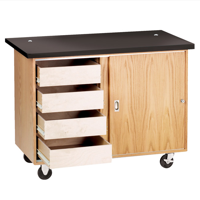 4222kf-mobile-demo-table-with-drawers-w-flat-top