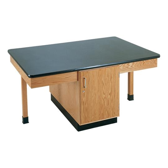 2301k-fourstudent-science-table-black-plastic-laminate-top-doors-only