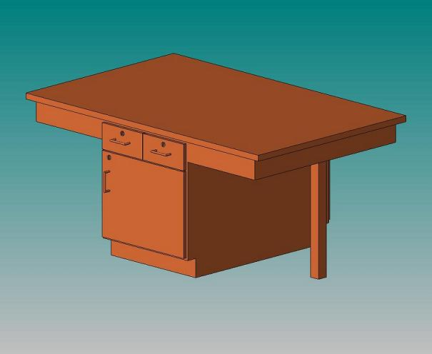 2402k-fourstudent-science-table-chemguard-top-w-door-drawers