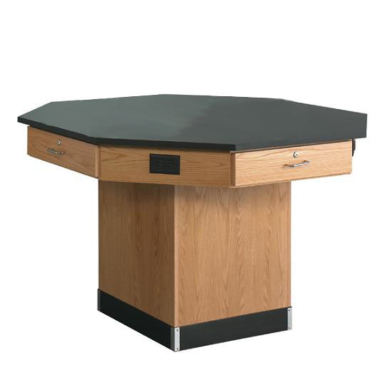 1516kf-octagon-lab-workstation-pedestal-base-w-flat-top-54-diameter