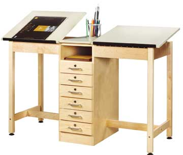 two-station-drafting-table
