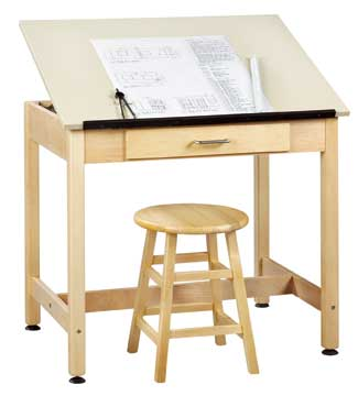 dt1a30-drafting-table-w-1piece-top-large-drawer-30-h
