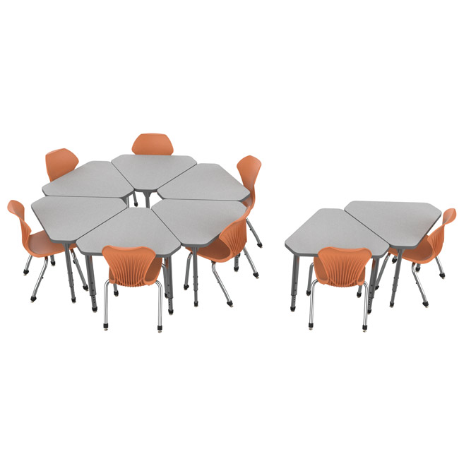 38371-classroom-set-8-apex-gem-desks-8-stack-chairs-14-pumpkin-spice-closeout