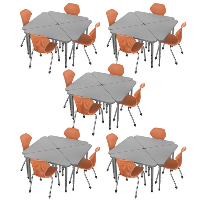 38372-20-apex-triangle-desks-20-stack-chairs-18-pumpkin-spice-closeout
