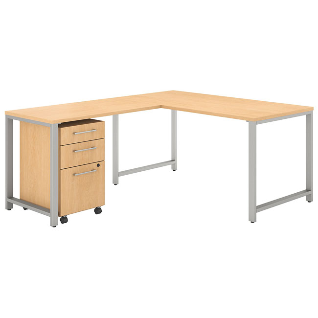 400-series-l-shaped-desk-with-hutch-with-return-drawer-by-bush-business-furniture