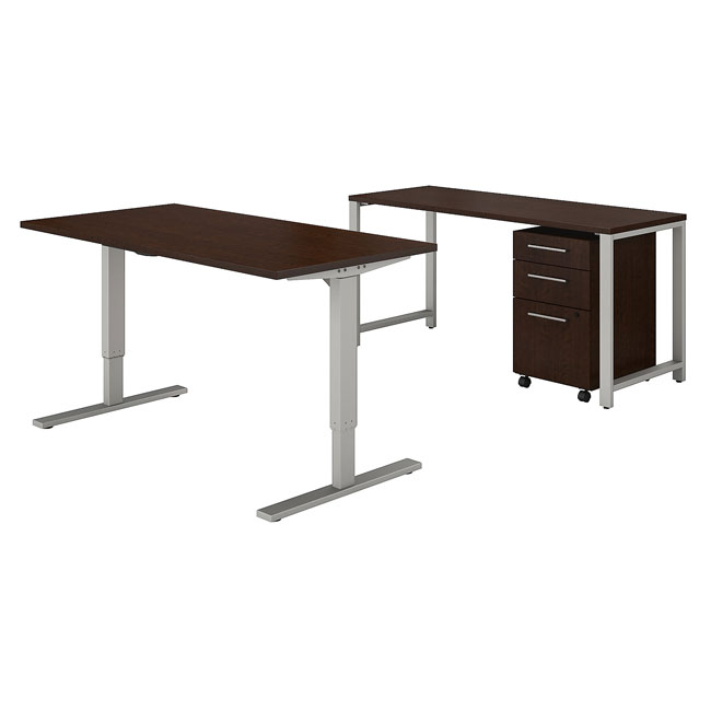 400-series-height-adjustable-standing-desk-with-credenza-3-drawer-mobile-file-cabinet-by-bush-business-furniture