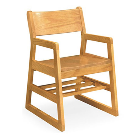Community Calculus Solid Oak Chair W Arms 41a Wooden