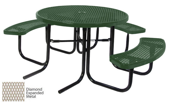358hrdv-round-ada-compliant-expanded-metal-outdoor-picnic-table