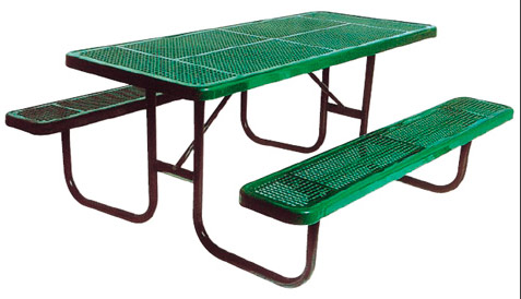 158p8-8-rectangular-perforated-metal-outdoor-picnic-table