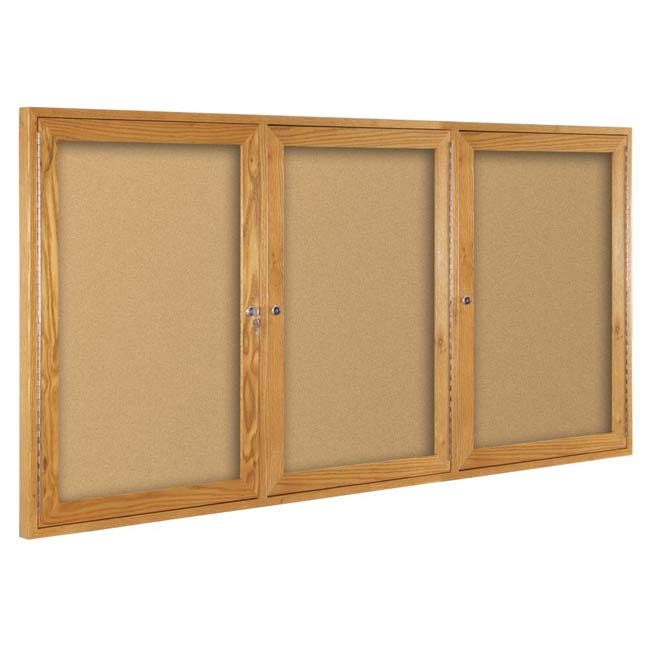 94hwh-enclosed-bulletin-board-cabinet-w-3-hinged-doors-48-h-x-96-w