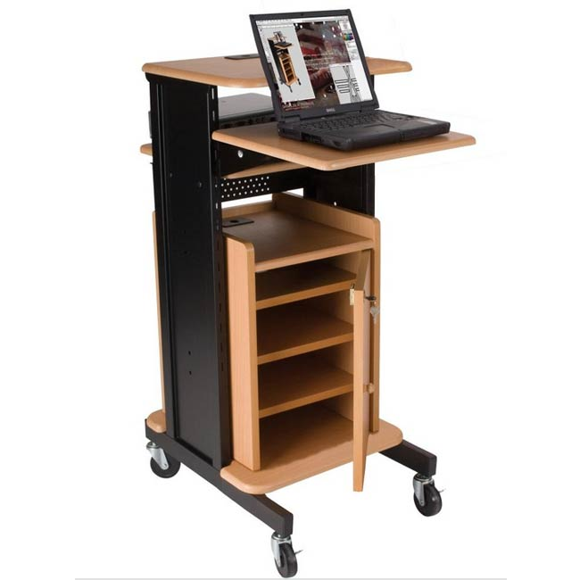 2751934459-teak-sitstand-standard-projector-cart-with-security-cabinet