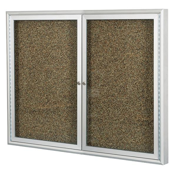 94psci-indoor-enclosed-bulletin-board-w2-doors-satin-aluminum-48-w-x-36-h
