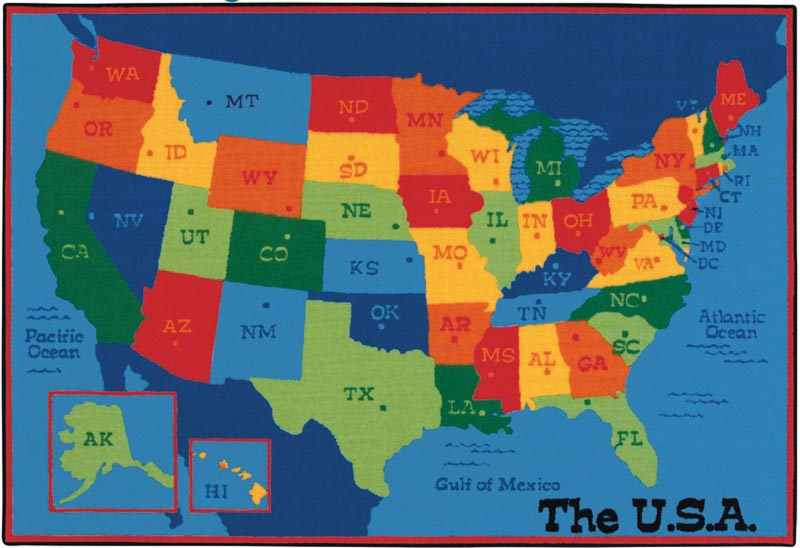 USA Map Value Rug - 4\' x 6\'