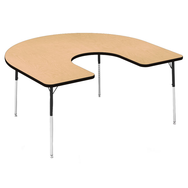 48horse60-60wx66l-horseshoe-silver-mist-legs-fusion-maple-top-color-banded-activity-table