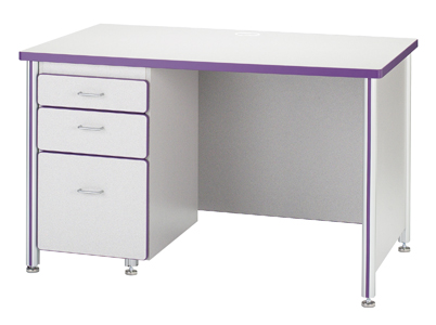 97001jc00-30dx48w-speckled-gray-laminate-accent-color-teachers-desk