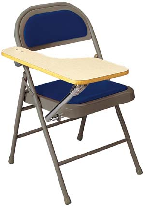 KI Padded Miracle Fold Tablet Arm Folding Chair