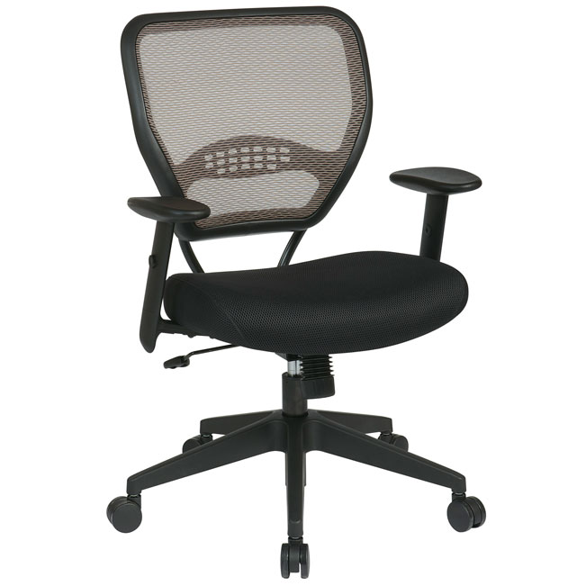 Deluxe Brown Latte Airgrid Back Managers Chair By Office Star, 55 38N17    Stock #76047
