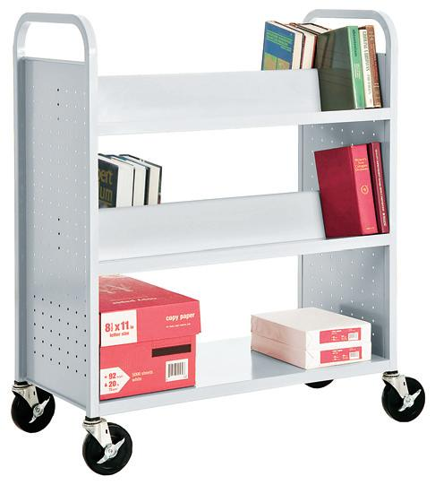 svf336-book-truck-with-4-slant-shelves-and-bottom-flat-shelf