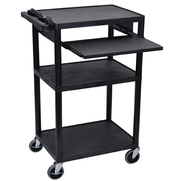 lp42le-threeshelf-plastic-av-cart-w-electric-front-shelf-42-h