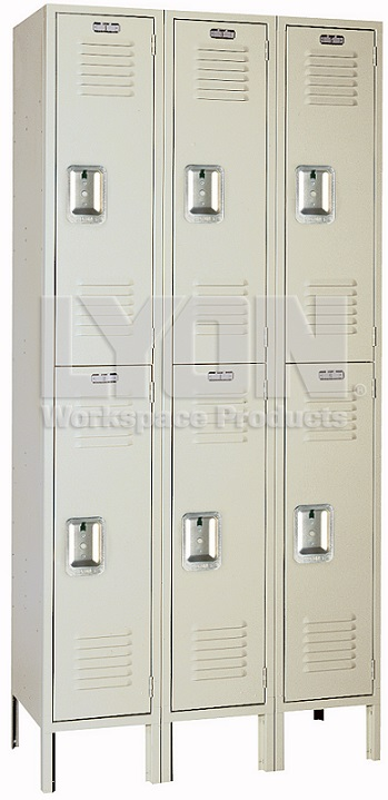 52223su-12x18dx36h-putty-setup-double-tier-lockers-3sections-wide-6-openings
