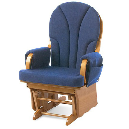 81fwnn-25wx26dx40h-navy-fabric-natural-frame-glider-rocking-chair