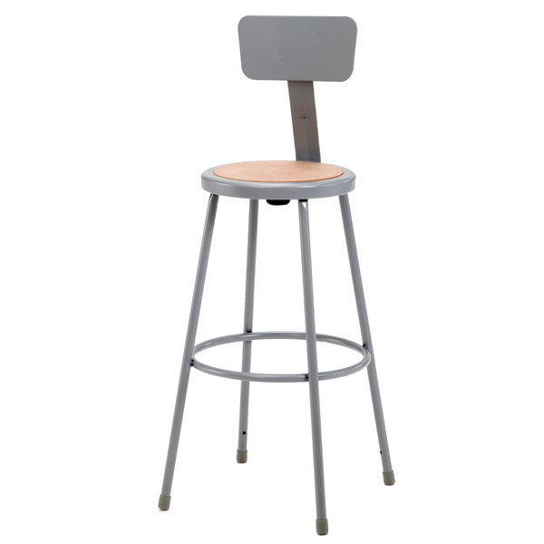 National Public Seating Steel Stool W Backrest 30 Quot H